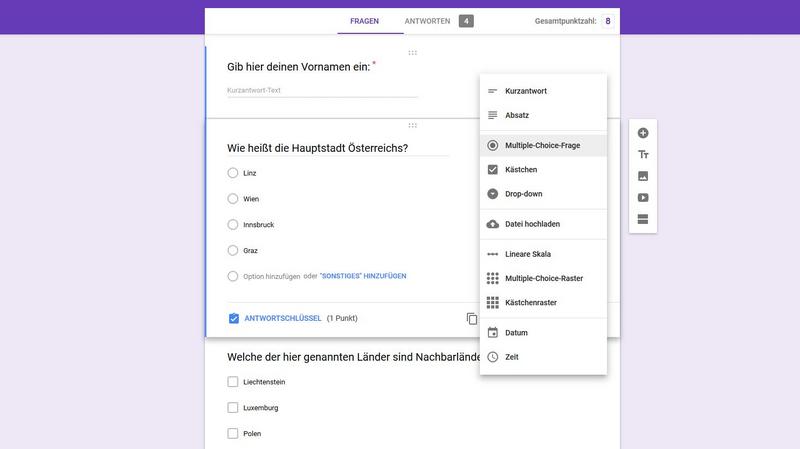 google form quiz Tipp: Quiz oder Umfrage mit Google Formular